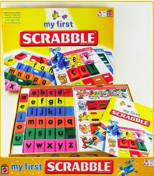 Sản phẩm Xếp chữ Cơ bản My First Scrabble Mattel 52203 chất lượng cao cấp an toàn