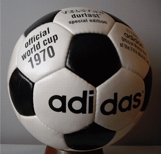 1970 Mexico World Cup Adidas Telstar Black & White soccer ball