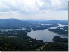 View of Chatuge Lake from Bell Mountain in Hiawassee GA