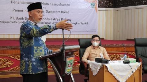 Pemprov Sumbar-BSI Jalin Kerjasama Kembangkan Ekonomi Syariah