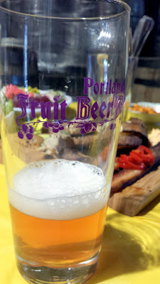 Portland Fruit Beer Festival taste of a fruit beer as I pondered my Recommendations for the Portland Fruit Beer Festival 2016