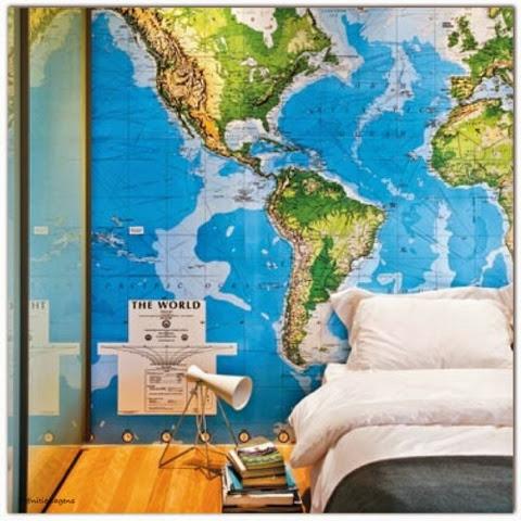 Niti Viagens e Turismo Decorando com mapas fotos e ingressos