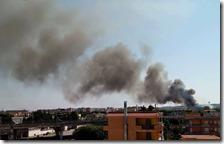 L'incendio nel campo Rom di Scampia