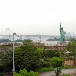 the statue of liberty in Odaiba in Odaiba, Tokyo, Japan