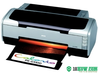 How to reset flashing lights for Epson PX-G5100 printer