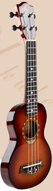 Huayi Deviser IZ ultra thin sunburst travel soprano at Lardy's Ukulele Database