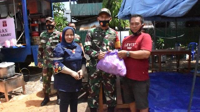 Bantu Korban Kebakaran, Kodim Kotabaru bersama Dinsos Dirikan Posko