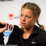 STUTTGART, GERMANY - APRIL 22 : Laura Siegemund talks to the media at the 2016 Porsche Tennis Grand Prix