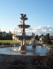 carved stone fountain, estate fountain, Exterior, Fountains, garden fountain, garden fountains, granite fountain, ice fountain, outdoor fountains, stone fountain, stone garden fountain, Tiered