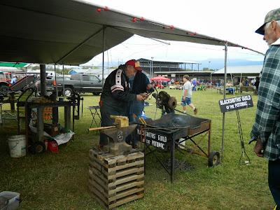 Blacksmith Guild entertaining Festival-goers!