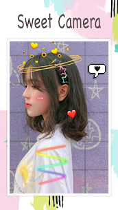 Live face sticker sweet camera 1