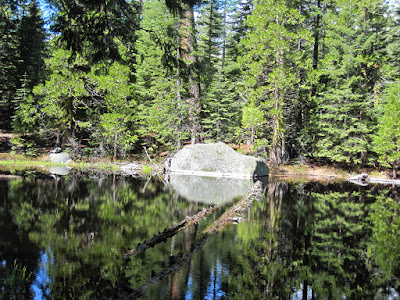 A quick trip into Carson-Iceberg Wilderness over Memorial Day...this is the first small lake on the trail to Wheat's Meadow  ©http://ba​ckpackthes​ierra.com