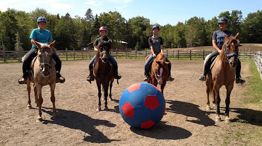 The winners of the Horsey-Soccer Game! Vivienne is second from the left.