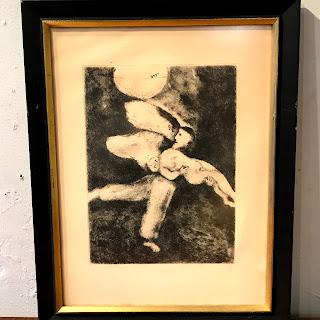 Marc Chagall 'God Creates Man' Etching