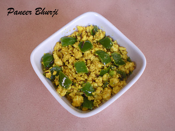 Paneer Bhurji(No onion ,No garlic )Recipe