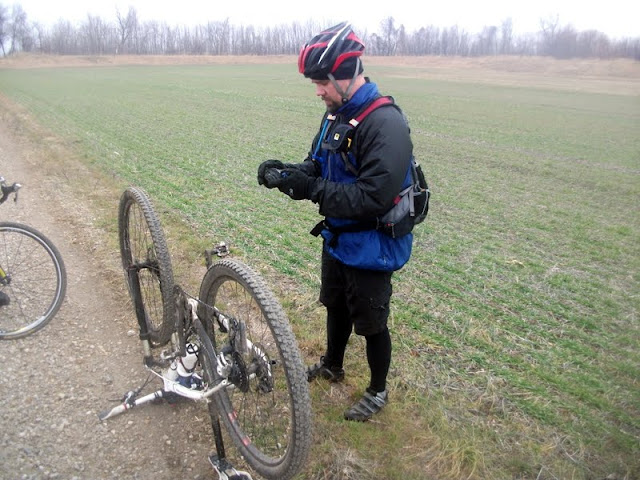 Flat tire while training for Dirty Kanza 200