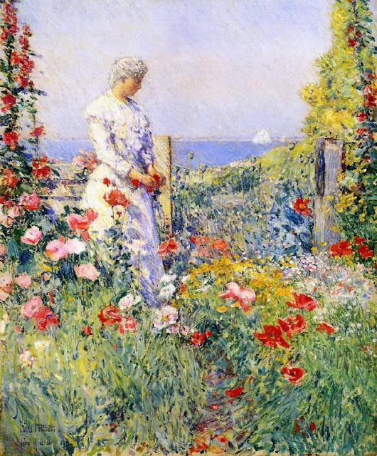 Childe Hassam - Celia Thaxter in her Garden, 1892