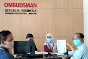 Seno Aji Laporkan Dugaan Maladministrasi BPN Kantah Bandar Lampung Ke Ombudsman RI