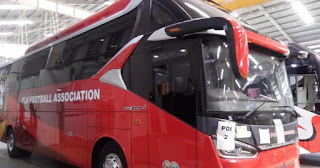 Fiji Football Association Gunakan Bus Buatan Karoseri Laksana Body All New Legacy SR-2 HD Prime