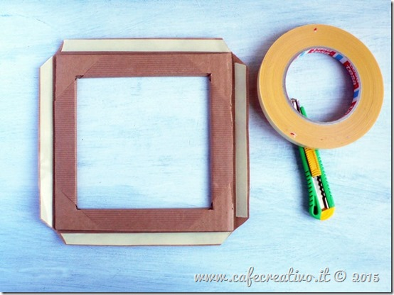 come fare cornice cartone e carta - tutorial by cafecreativo (5)