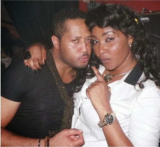 Mike Ezuruonye birthday with angela okorie