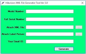 Hikvision XML File Generator Tool