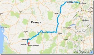 mapa colmar ate rocamadour