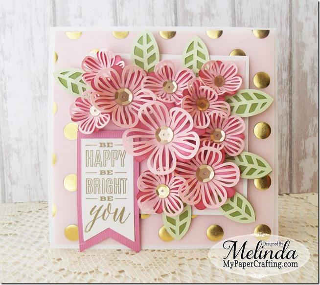 Cricut Cartridge Artistry Be Happy Floral Card