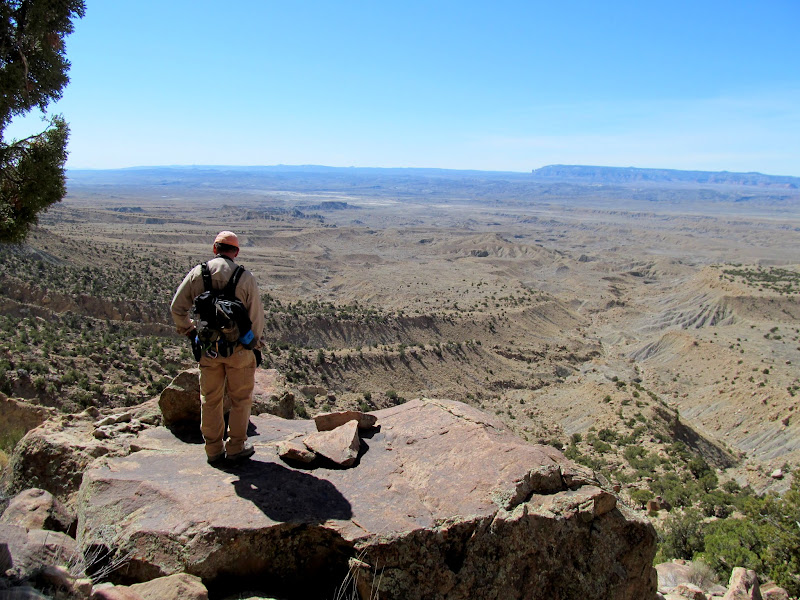 Photo: Alan overlooking the lower trail