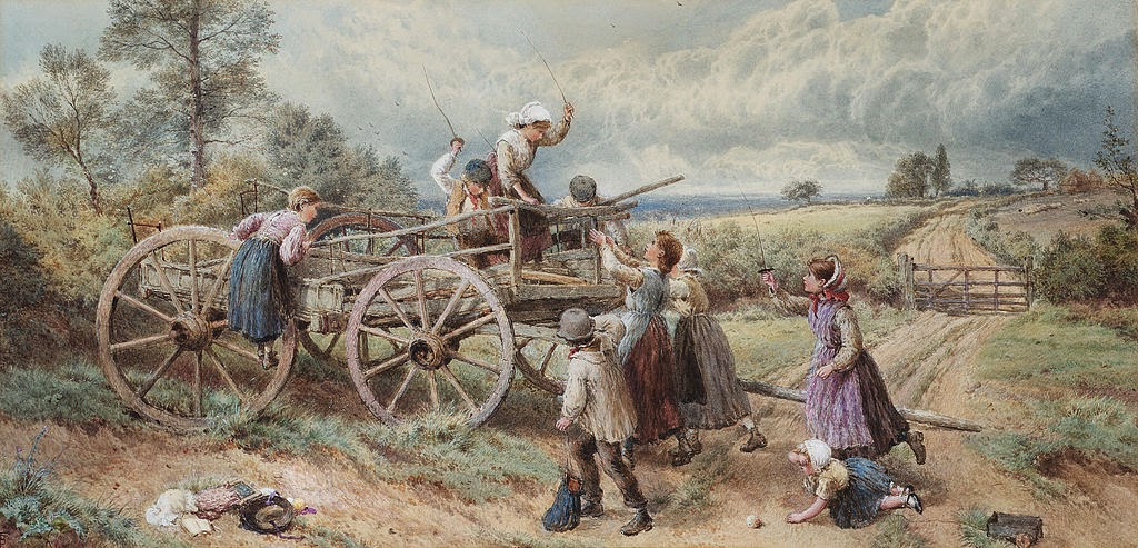 Myles Birket Foster - Who's to be king of the castle