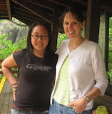 Pennie and Angie... they had the same Kindergarten teacher, Mrs. Lunt, at McKelvey Elementary... met at Baiyang waterfall in Taroko Gorge NP!