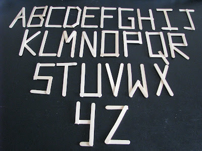 Craft stick/Popsicle stick Alphabets