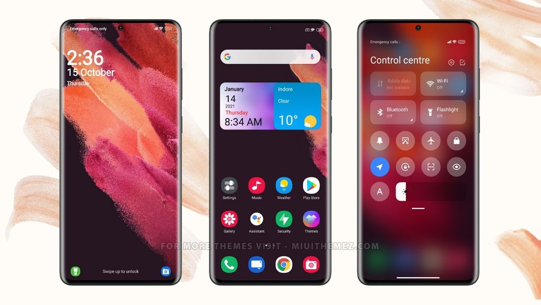 Samsung S21 MIUI Theme