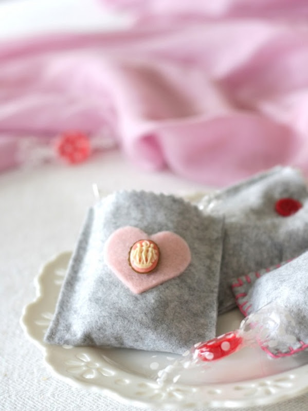 Grey Felt Valentine's Day Treat Bags by homework - carolynshomework (1)