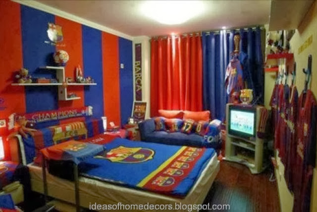boy 39 s football bedroom themed decoration ideas