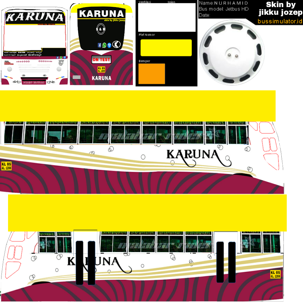 Bussid kerala: Karuna livery
