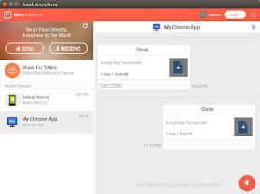 Compartir archivos entre diferentes plataformas con Send Anywhere - ejemplo 1