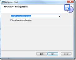NSClient++ Setup - Configuration 1