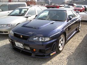 Blue Nissan 400R Skyline