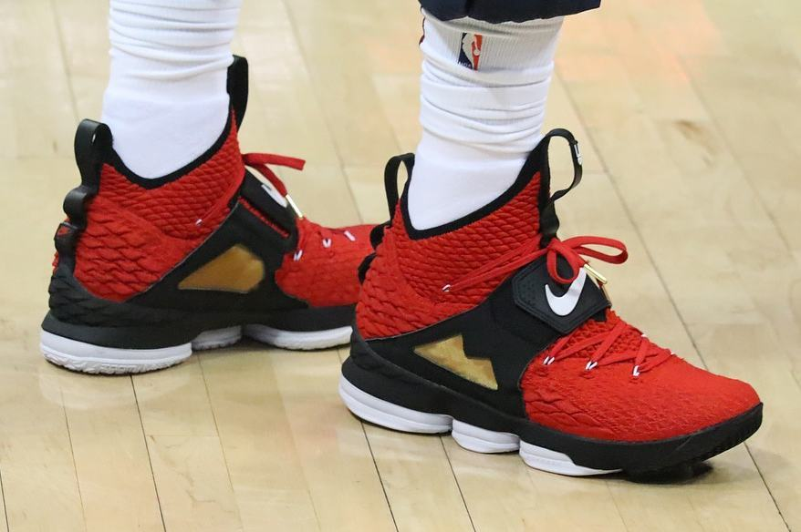 652c9e177cdd ... LeBron Debuts Red Diamond Turf 15s in Tribute to Deion Sanders ...