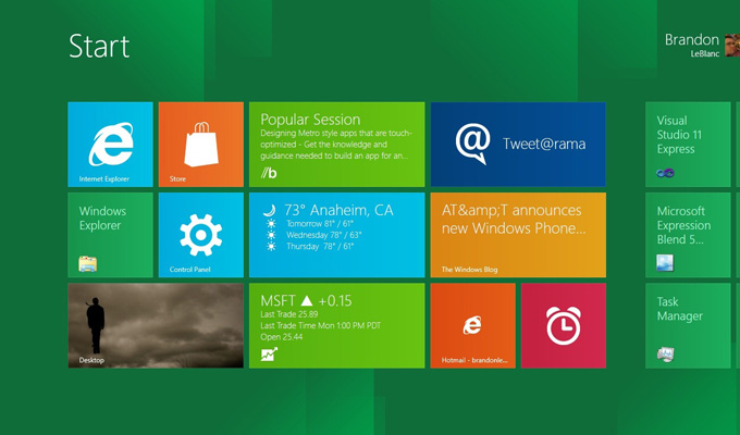 La versión de prueba de Windows 8