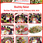 Celebration of Healthy Salad Day by Playgroup Section at Witty World, BN, [2015-16]