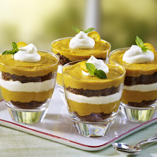 Pumpkin Gingerbread Trifles.