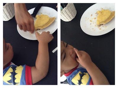 Pie susu menggunakan panci teflon