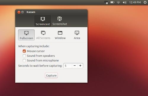 Kazam 1.4 su Ubuntu