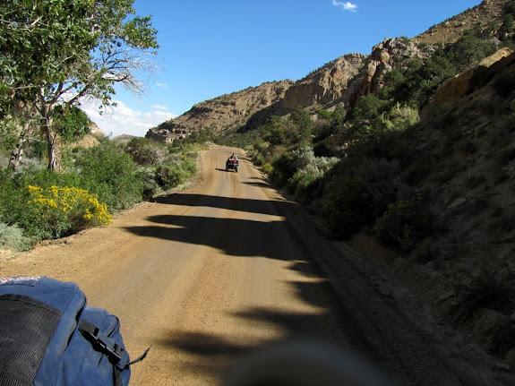 Heading up Ferron Canyon