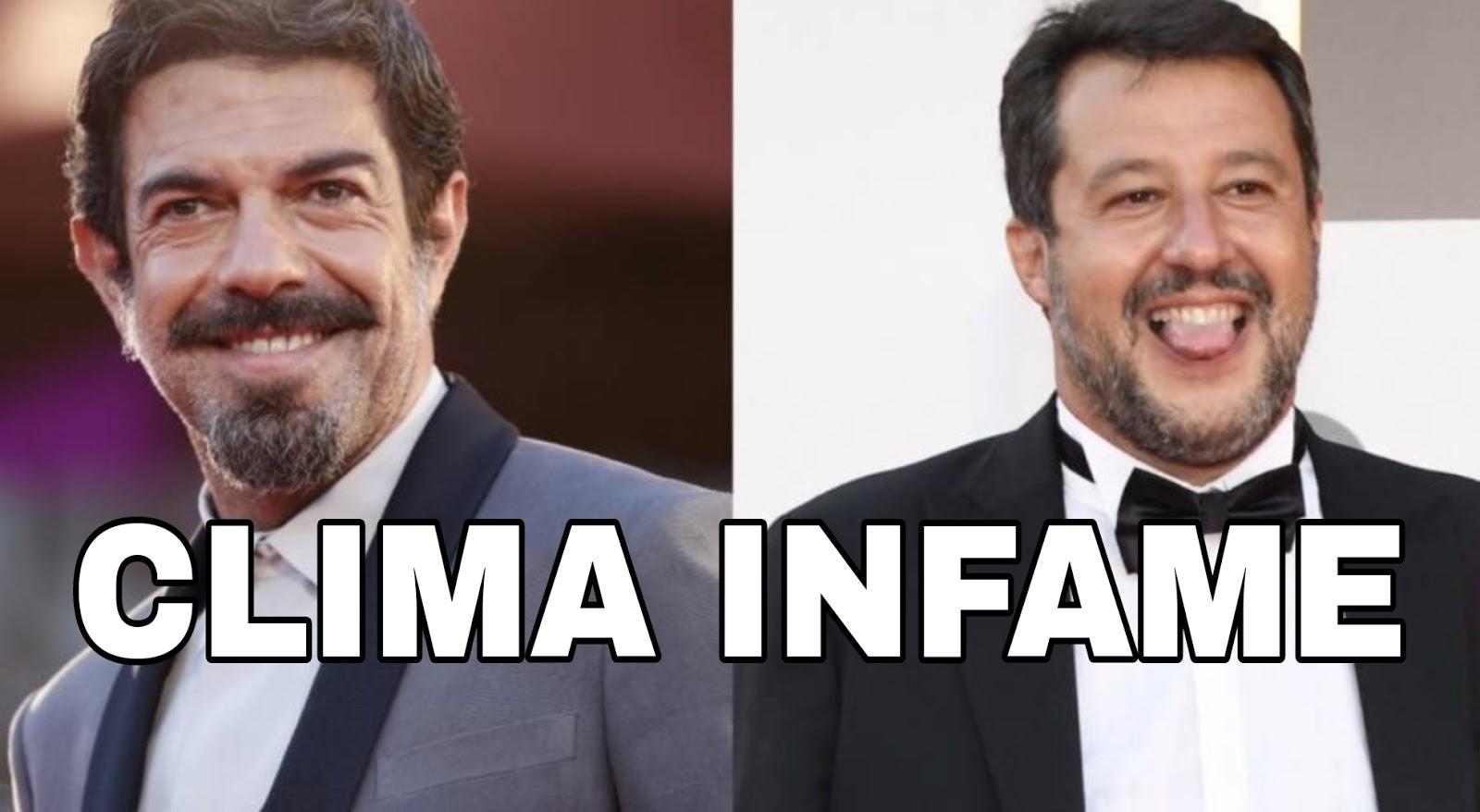 Favino attacca Salvini: È venuto a fare propaganda, nessuno lo ha invitato. Cosa ne pensate?