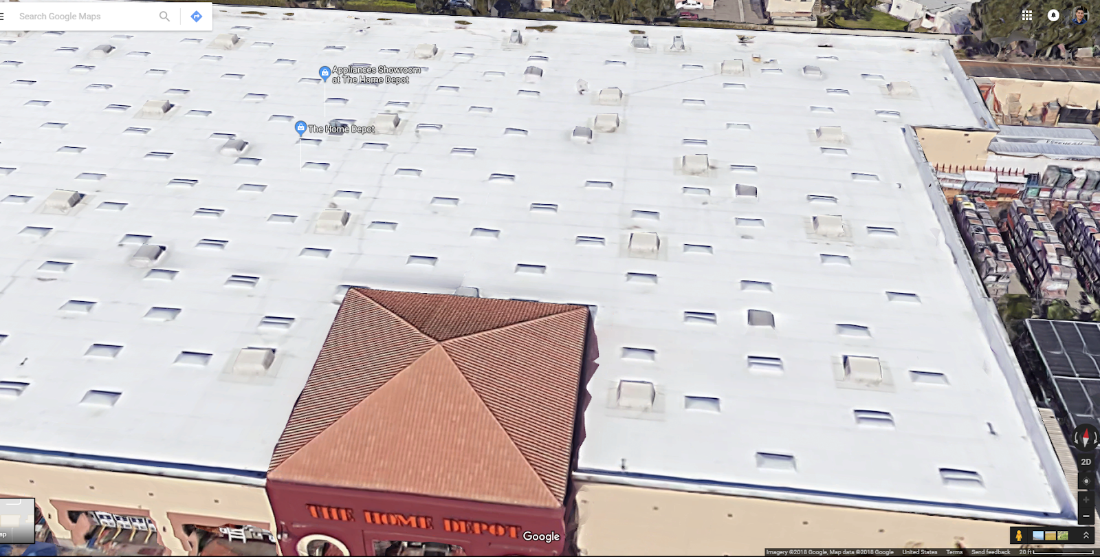 Why Does Satellite View Show A Rooftop Clearer On One Computer Vs