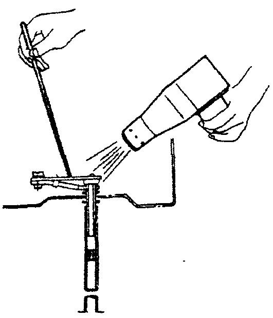 Проверка работы температурного компенсатора системы холостого хода с использованием фена и термометра