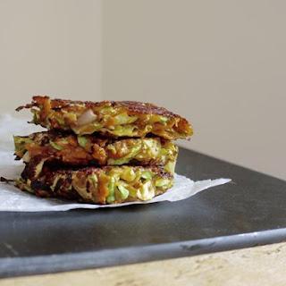 Okonomiyaki – Sweet Potato and Cabbage Pancakes Recipe